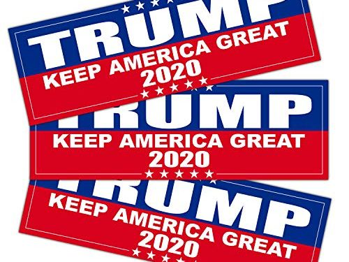 Anley 9 X 3 inch Trump 2020 Keep America Great Decal – 2020 United States Presidential Election 3 Pack – Car and Truck Reflective Bumper Stickers