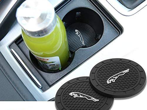 Yuanxi Electronics 2pcs 2.75 inch Car Interior Accessories Anti Slip Cup Mat for Jaguar All Models