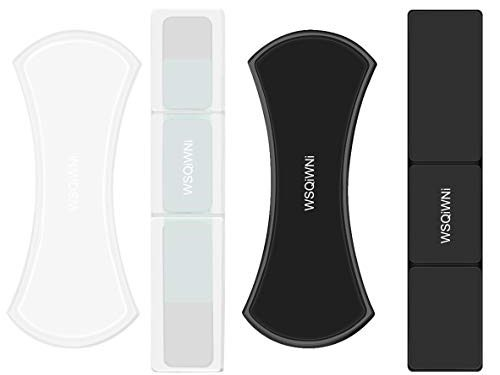 Sticky Gel Pads Cell Phone Sticker, WSQIWNI Nano Rubber Pads, Sticky Cell Pads, Silicone Sticky Gel Pad Sticky Phone Holder for Car, Car Mount Anti-Slip Stick to Anywhere 4-Pack