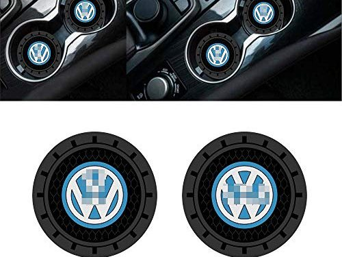 Auto sport 2.75 Inch Diameter Oval Tough Car Logo Vehicle Travel Auto Cup Holder Insert Coaster Can 2 Pcs Pack Fit Volkswagen Accessory