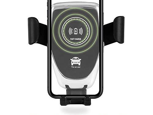 Wireless Car Charger Mount Car Charger Gravity Air Vent Phone Holder 7.5W/10W Compatible with iPhone Samsung Nexus Moto OnePlus HTC Sony Nokia and Android Smartphones B1ack