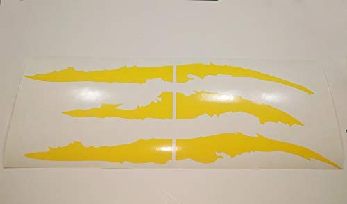 ViaVinyl Claw Marks Headlight Decal Available in Nine Colors!. Genuine Brand Vinyl Sticker/Decal for Sports Cars Yellow