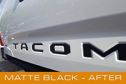 EyeCatcher Tailgate Insert Letters for 2016-2019 Toyota Tacoma Black Matte