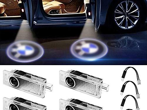 GANKING Car Door LED Logo Projector Ghost Shadow Welcome Lights Easy Installation for BMW Series 4 Pack
