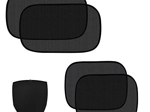 ZATAYE Car Window Shade – 4 Pack Car Side Windows Sunshade for Baby,Car Sun Shades Protector,80 GSM for Maximum UV/Sun/Glare Protection for Kids,2 Pack 20″x12″ and 2 Pack 17″x14″