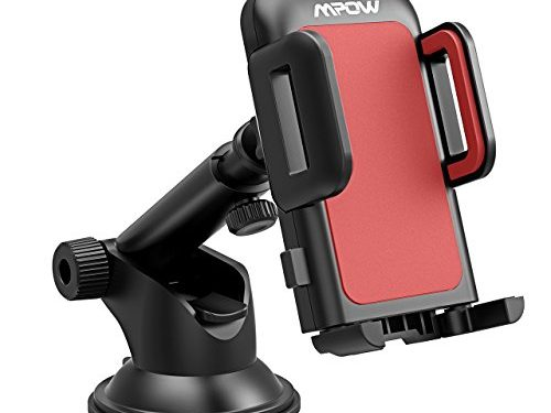 Mpow Gen-2 Dashboard Car Phone Holder, Windshield Car Phone Mount, with Strong Sticky Gel Pad for iPhone Xs Max/Xs/Xr/X/8/8Plus/7/7Plus/6/6Plus, Galaxy S10/S9/S8/S7 Note9/Note8, Google, Moto, and More