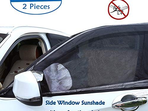 Big Ant Car Window Sun Shade Windshield Shade Front Window Sunshade-Adjustable Universal Fit Mesh Side Window Sunshade-Sun Glare and UV Rays Protector for Baby Child and Pet 2PCSPerforation Design