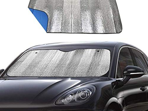 Blue 55″ x 27.5″ – Big Ant Windshield Sunshade for Car Foldable UV Ray Reflector Auto Front Window Sun Shade Visor Shield Cover, Keeps Vehicle Cool