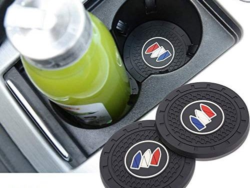 Auto sport 2.75 Inch Diameter Oval Tough Car Logo Vehicle Travel Auto Cup Holder Insert Coaster Can 2 Pcs Pack Buick