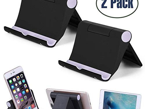 Cell Phone Stand Multi-Angle,【2 Pack】 Tablet Stand Universal Smartphones for Holder Tablets6-11″, e-Reader, Compatible Phone XS/XR/8/8 Plus/7/7 Plus, Galaxy S8/S7/Note 8, Air, Mini, Pixel 2Black