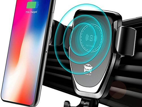 Wireless Car Charger Mount, Qi Fast Charging Car Phone Holder Air Vent Gravity Car Stand Kit for Smartphone and All QI-Enabled Phone by ZONV