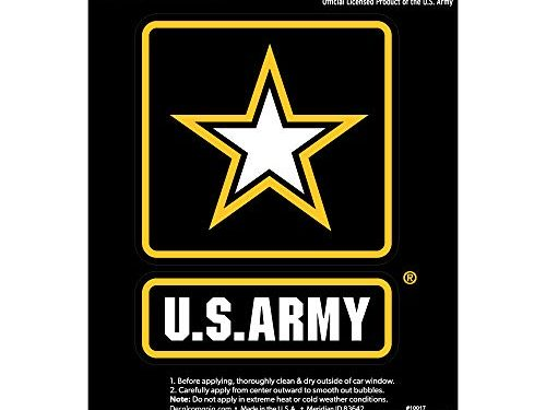 Large 6″ US Military Sticker for Truck or Car Windows – Large Military Car Decals Military Collection   – Officially Licensed U.S. ARMY