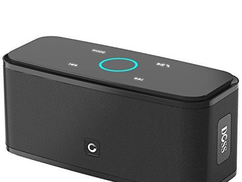 DOSS Touch Wireless Bluetooth V4.0 Portable Speaker with HD Sound and Bass, 12H Playtime, Built-in Mic, Portable Wireless Speaker for iPhone, Samsung Black