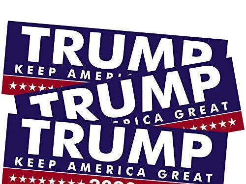 SBB 3pcs President Donald Trump Keep America Great 2020 Election Patriotic Bumper Sticker 9″x3″ Car Auto Decal Conservative Republican Blue&Red