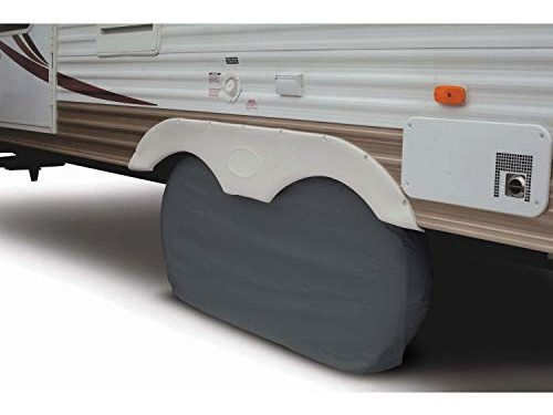 Classic Accessories OverDrive RV Dual Axle Wheel Cover, White, X-Large