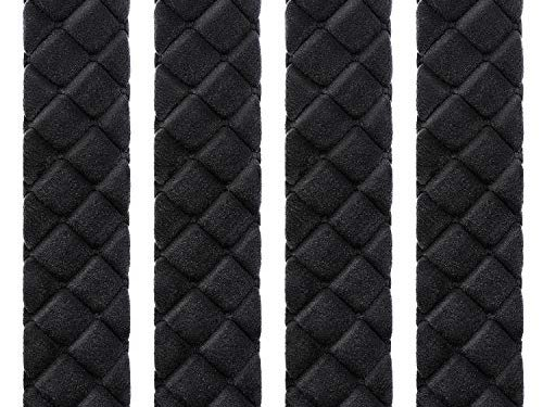 Tatuo 4 Pack Car Seat Belt Pads Seatbelt Protector Soft Comfort Seat Belt Shoulder Strap Covers Harness Pads Helps Protect Your Neck and Shoulder Black