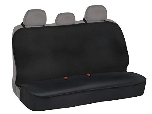 Heavy Duty Universal Fit – AllProtect Waterproof Neoprene Rear Bench Seat Cover for Car SUV Truck – Quick Install – for Work, Utility, Kids, Pets & Vehicle Protection Solid Black