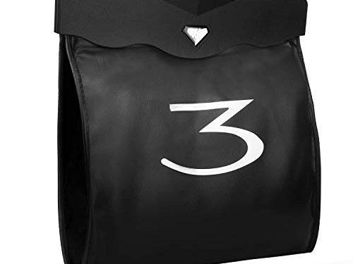 BASENOR Tesla Model 3 Trash Can PU Leather Garbage Bin