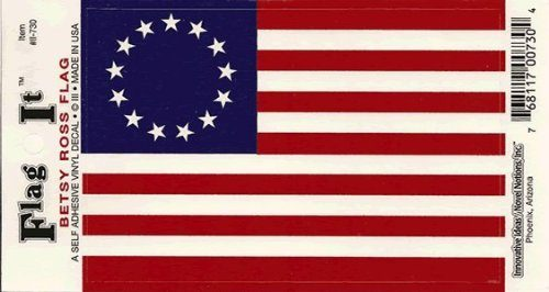 Betsy Ross flag decal for auto, truck or boat
