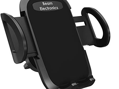 Beam Electronics Universal Smartphone Car Air Vent Mount Holder Cradle Compatible with iPhone Xs XS Max XR X 8 8+ 7 7+ SE 6s 6+ 6 5s 4 Samsung Galaxy S10 S9 S8 S7 S6 S5 S4 LG Nexus Sony Nokia Black