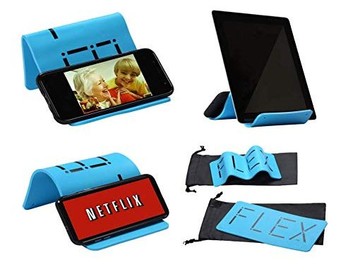 iFLEX | Cell Phone & Tablet Stand Holder for in-Flight Air Travel | Holds iPhone Android Cellphone iPad Kindle Tablet | Universal Stand/Holder Home Travel Work Car Kid Cooking Skype YouTube Netflix