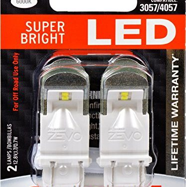 Bright LED Bulb, Ideal for Daytime Running Lights DRL and Back-Up/Reverse Lights Contains 2 Bulbs – 3157 ZEVO LED White Bulb – SYLVANIA