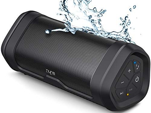 NYNE Boost Portable Bluetooth Speakers with Premium Stereo Sound – IP67 Water & Dust Proof, 20 Hours Play-time, 100 ft Range, Built-in Power Bank and Mic, True Wireless Stereo, Loud Wireless Speaker