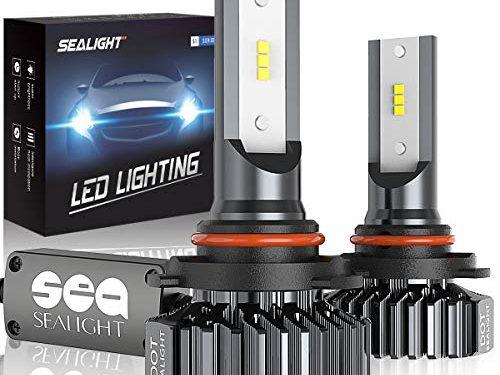 9006/HB4 LED Headlight Bulbs Conversion Kit, SEALIGHT S1 Series Low Beam/Fog light bulb 12xCSP Chips – 6000LM 6000K Xenon White