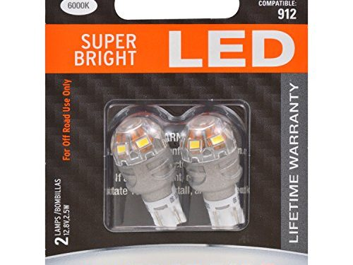 921 T-16 W16W ZEVO LED White Bulb – SYLVANIA – Bright LED Bulb, Ideal for Interior Lighting – Map, Dome, Trunk, Cargo and License Plate Contains 2 Bulbs