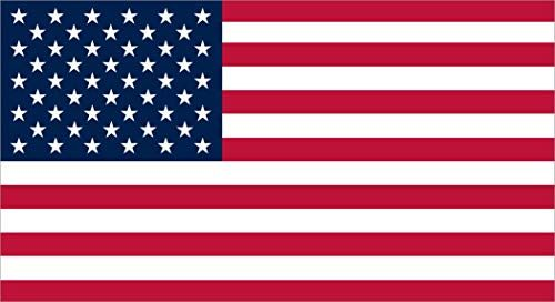 7in x 3.8in Proportional USA Flag Sticker