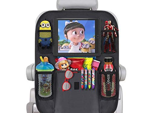 JALIELL Car Organizer Back Seat with 10″ Touch Screen Tablet Holder + 5 Storage Pockets Car Organizer Great Travel Accessories for Kids Toddlers Toys           – Car Back Seat Organizer Protector