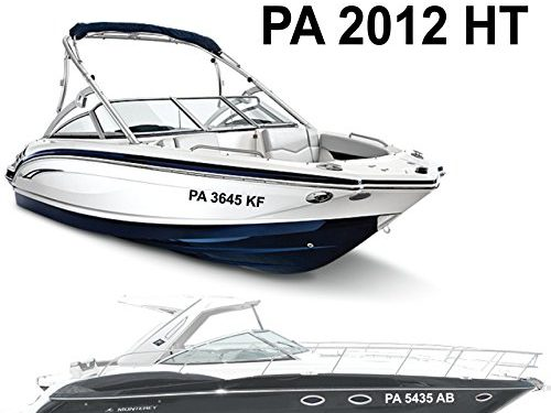 1060 Graphics Boat Registration Numbers 3″ high x 28″ Long