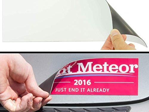 Cut-to-Size Bumper Sticker Magnetizer 10 Pack: Turn Any Decal Into a Strong Magnet. Durable & Weatherproof Magnetic Strip Protects Paint & Allows for Easy Swap. Flexible 4×12 Sheet Guaranteed to Stick