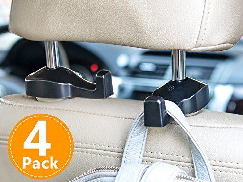 TOPLUS Car Vehicle Back Seat Headrest Hanger Holder Hook for Bag Purse 4 Pack