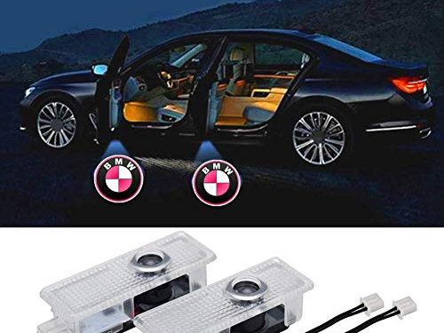 2 Pcs Car LED Door Logo Lights Projector Ghost Light Accessories Welcome Emblem Lamp for BMW Compatible 3/5/6/7/Z/GT Series