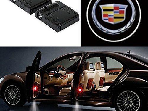 Bearfire 2 Pcs Wireless Car Door Led Welcome Laser Projector Logo Light Ghost Shadow Light Lamp Logos cadillac