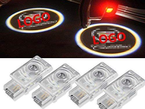 Moonet 4 x LED Door Courtesy Shadow Ghost Lamp Projector Light for Cadillac 2011-2018 SRX,2013-2018 XTS,2013-2018 ATS ATS-L, 2016-2018 XT5 (pack of 4)