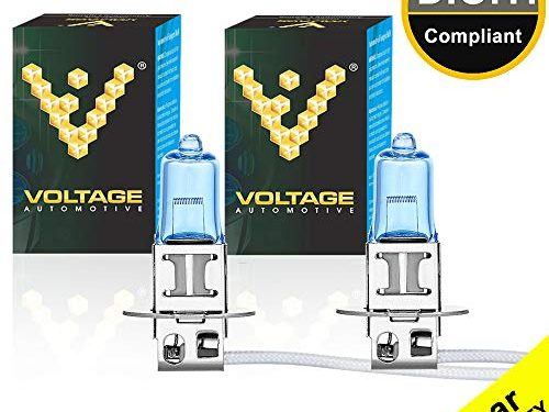 Professional Upgrade Headlight Bulb – Voltage Automotive H3 Headlight Bulb Polarize White Replacement Pair