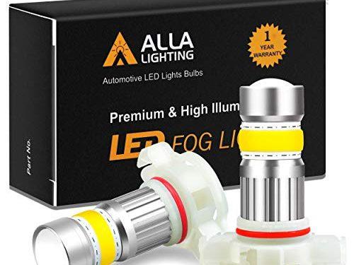 3000K Amber Yellow – Alla Lighting 2800lm Xtreme Super Bright 5201 5202 LED Bulbs Fog Light High Illumination COB-72 LED 5202 Bulb 5201 PS19W 12085 5202 Fog Lights Lamp Replacement