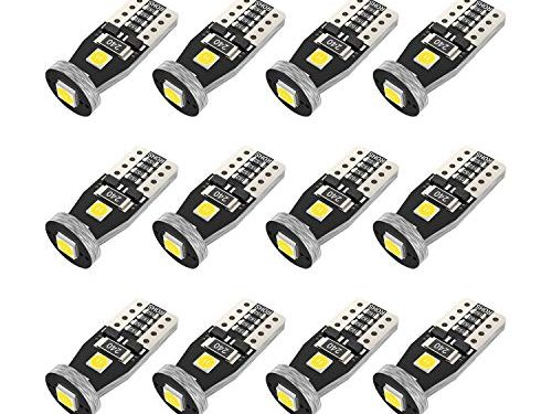 194 LED Bulb Super Bright 3030 Chipset T10 194 168 SMD W5W LED Wedge Light 1.5W 12V License Plate Light Turn Light Signal Light Trunk Lamp Clearance Lights -12pcs