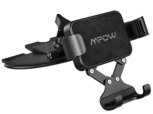 Mpow Gravity Car Phone Mount, CD Slot Phone Holder One-Handed Operation Car Phone Cradle and Auto-Lock and Release, Compatible with iPhone Xs Max X XR 8 Samsung Galaxy S10 S9 S8 Plus OnePlus Pixel LG