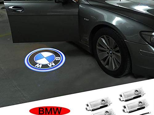 Bailunte Car Door Light Logo Projector Ghost Shadow Welcome Lights For BMW Compatible X1/X3/X4/X5/X6/3/4/5/6/7/Z/GT Series(4-Pack)