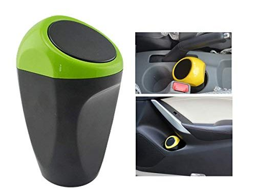 KDL Car Auto Garbage Trash Can Automotive Waste Storage Green, Car Trash Can Common Use for Autotive Car, Home, Office, Kitchen, Living Room, Bedroom, Study, Dinning Room, Bathroom Etc.