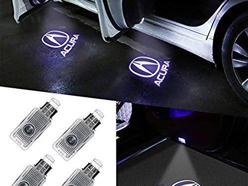 Aukur 4 Piece Auto Door Logo Projector Car Door Lights Door Step Courtesy Light for Acura