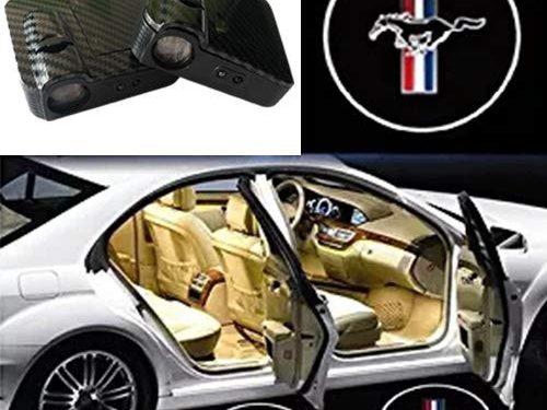 SOONDAR for Ford Mustang Door Lights Car Door Projector Lights Door Light Logo Ghost Shadow Welcome Lights 2PCS