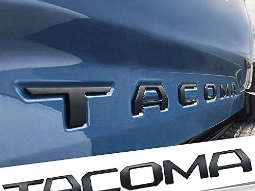 Auto safety 3D Raised Tailgate Metal Letters for Toyota Tacoma 2016 2017 2018 2019 Tailgate Inserts Matte Black Toyota Tacoma Accessories