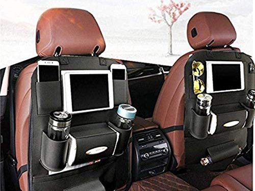 Protective Car Seat Back Organiser Kick Mats 7 Separate compartments,Car Organizer 1Pack – K&K Back Seat Car Organizer, Backrest Protection Car Seat Organizer PU Leather