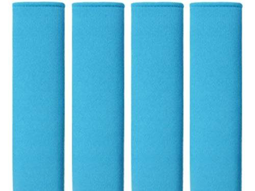 MIRKOO Car Seat Belt Cover Pad, 4-Pack Soft Car Safety Seat Belt Strap Shoulder Pad for Adults and Children, Suitable for Car Seat Belt, Backpack, Shoulder Bag, Laptop Computer Bag Blue-4P