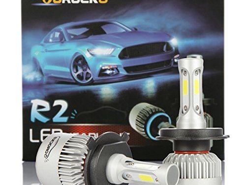 R2 COB H4 HB2 9003 8000 Lumens Led Headlight Conversion Kit, High Low Beam Headlamp, Dual Beam Head Light, Halogen Head light Replacement, 6500K Xenon White, 1 Pair, 1 Year Warranty