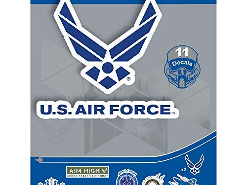 Large Military Decals from 2″ to 5.7″ Car Decals Military – United States AIR Force – 11 Piece USAF Licensed Stickers for Car Truck Windows, Phones, Tablets, Laptops